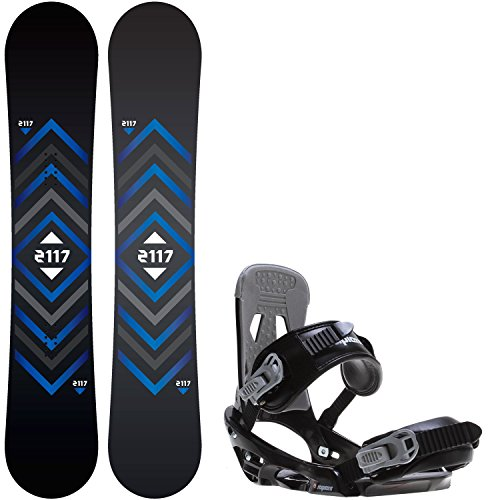 2117 Of Sweden Berg 160 Mens Snowboard + Sapient Stash Bindings - Fits US Mens Boots Sized: 8,9,10,11,12 by 2117 of Sweden