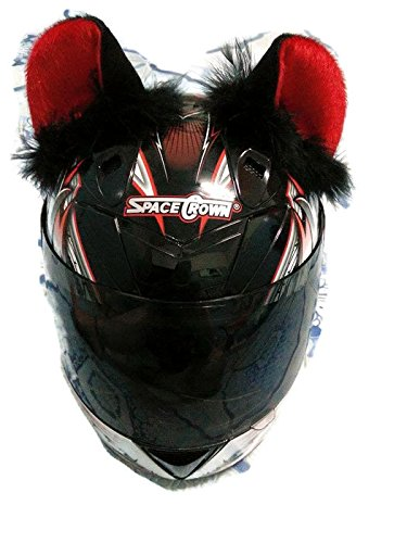 Motorcycle Helmet With Cat Ears - 3