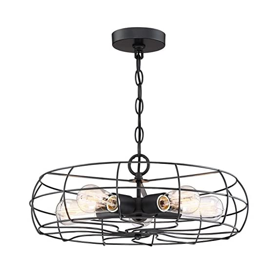 "Kira Home Gage 18"" Industrial 5-Light Fan Chandelier 