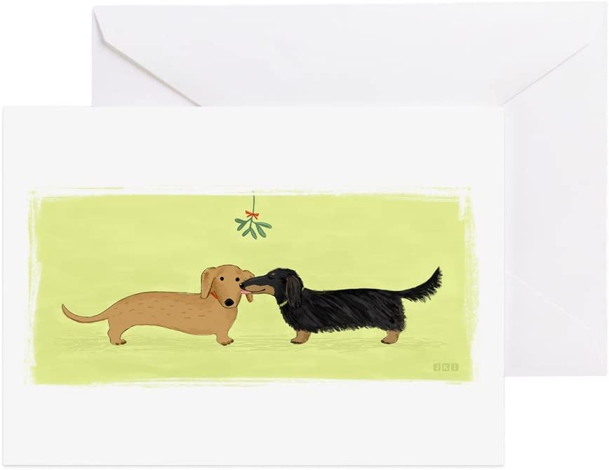 Large Dachshund Note Card Blank inside FREE SHIPPING IN USA