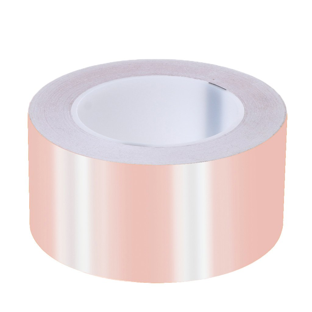OTGO 10/25/30/60mm 30M EMI Copper Foil Shielding Tape Single Sided Low ESR Conductive Self Adhesive (60mm)
