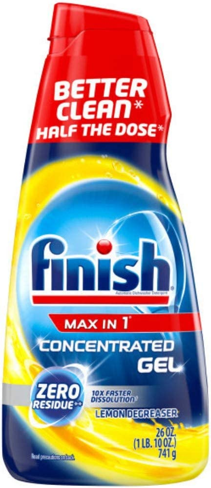 Finish Max in 1 Concentrated Lemon Degreaser Gel 26 Oz.
