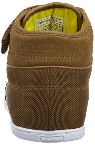 Boxfresh Swich Tan Gelb Weiß Nylon Half Cab Herren Sneaker Schuhe Stiefel