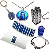 Amazon Price History for:The Doctor Gift Pack. Tardis Necklaces, Gallifreyan Keyring, Bracelets and Pin in Gift Pack