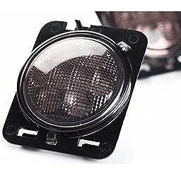 LED Turn Signal & Fender Side Light Combo Smoke Lens for 07-16 Jeep Wrangler