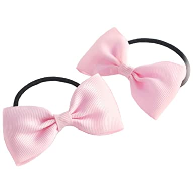 Hair Bobbles -  Pack Of 2  Flat  Bow Tie  Bobbles (2.5