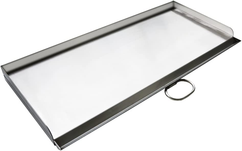 """Stanbroil Cast Stainless Steel Replacement Cooking Griddle with handle for Camp Chef SG60, Fits Camp Chef 14"""" 2 burner stove cooking system"""