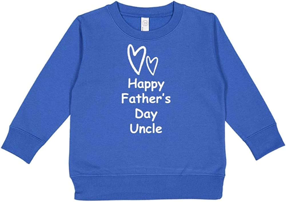 Mashed Clothing Happy Fathers Day Uncle Two Hearts Toddler//Kids Sweatshirt