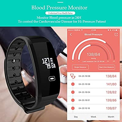 Fitness Tracker with Blood Pressure - DAWO D2 Activity Tracker with Heart Rate Monitor Watch , IP67 Waterproof Smart Wristband with Calorie Counter Watch Pedometer Sleep Monitor for Kids Women Men