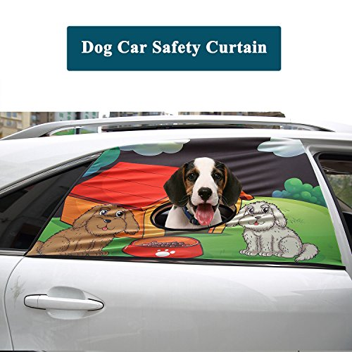 Cheap Flightbird Dog Car Safety Curtain, Car Window Barriers Foldable Car Sun Shades for Baby Pet Kid,Adjustable Flexible Breathable Stylish Universal Fit for Car Suv Jeep