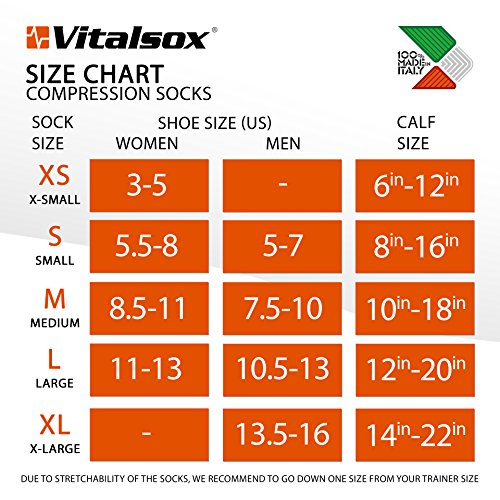 Vitalsox Italy-Patented Compression VT1211,X-Small,White by Vitalsox (Image #4)