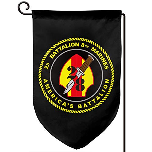 Garden Flag 12.5-18in Size Banner for House Decoration- US Marine Corps 2nd Battalion, 8th Marines ()