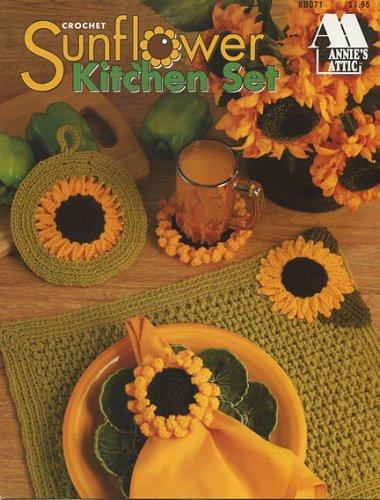 Annie's Crochet Sunflower Kitchen Set (Annie's Attic, 8b071)