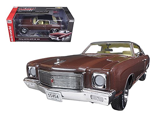 Chevrolet 1971 Monte Carlo SS 454 Rosewood Metallic Limited Edition to 1002pcs 1/18 by Autoworld AMM1055