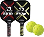 Champion Sports Pickleball Paddles: Indoor or Outdoor Pickle Ball Paddles in Wood, Aluminum, Fiberglass, &