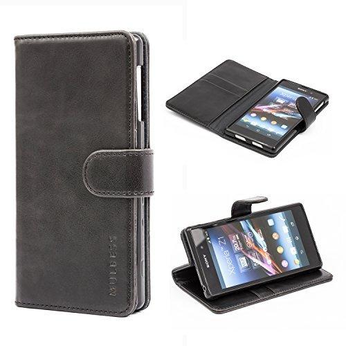 Sony Xperia Z1 Case,Mulbess Leather Case, Flip
