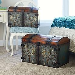 Household Essentials Vintage Wood Storag...