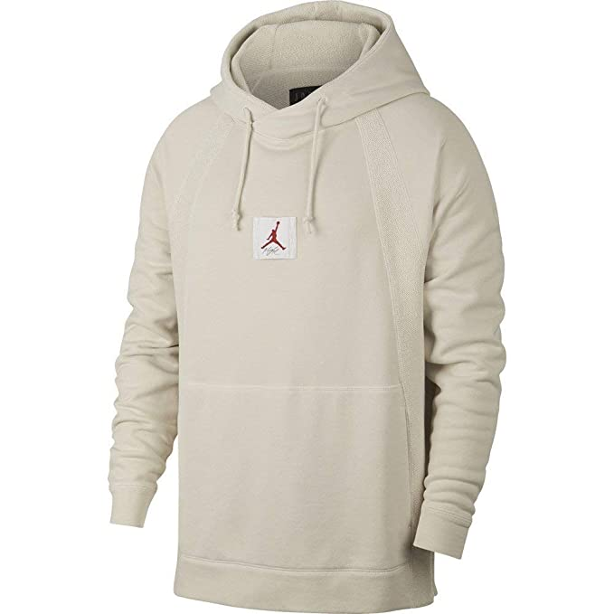 Jordan Sudadera Capucha Sportswear Wings Washed Fleece Pullover Hueso M (Medium)