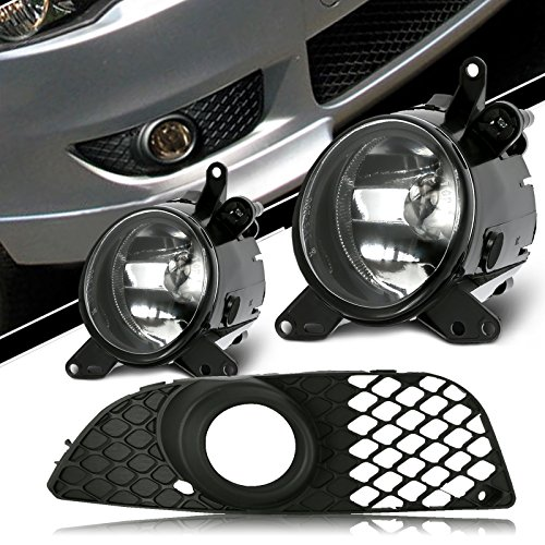 (Scitoo Packaged Clear Fog Light fit 2007-2012 Mitsubishi Lancer (Wiring Kit Included) Pair Set)
