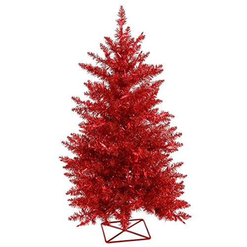 (Vickerman B986231 Artificial Christmas Tree With 232 PVC tips & 70 Dura-lit Mini Lights, 3' x 29