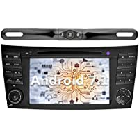 YINUO 7 inch Android 7.1.1 Nougat Quad Core Car Stereo HD Touch Screen Car Radio GPS Navigation for Mercedes-Benz E-W211/E200/E220/E240/E270/E280,CLS-W219/CLS,CLK