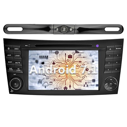 Price comparison product image YINUO 7 inch Android 7.1.1 Nougat Quad Core Car Stereo HD Touch Screen Car Radio GPS Navigation for Mercedes-Benz E-W211 / E200 / E220 / E240 / E270 / E280, CLS-W219 / CLS, CLK (Navigation with Camera 5)
