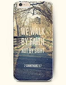 iPhone Case,OOFIT iPhone 6 Plus (5.5) Hard Case **NEW** Case with the Design of WE WALK BY FAITH NOT BY SIGHT 2 CORINTHIAN 5:7 - Case for Apple iPhone iPhone 6 (5.5) (2014) Verizon, AT&T Sprint, T-mobile