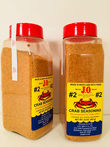 2 Pack J. O. #2 Crab seasoning 2-32 oz containers, Crab spice, Steam Crabs, Crab boil