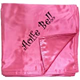 Custom Embroidered Personalized Two Ply Satin Baby Blanket in Multiple Colors