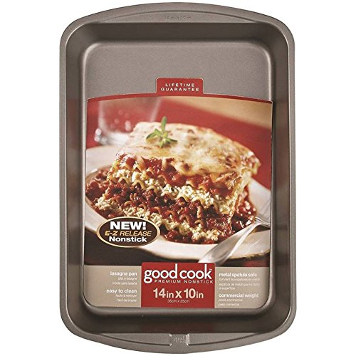 Pan Lasagna Nonstick 14x10 In by Good Cook B00GB364NW
