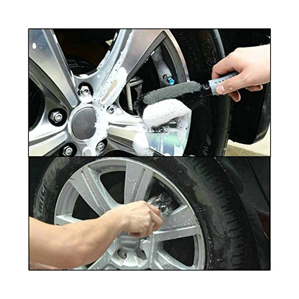 Car Wheel Brush Set Meiso Car Wheel Cleaning Brush Kit Tool Tire Rim Scrub Brush Soft Alloy Brush Cleaner Tie Auto Wheel Cleaning Gloves And Cloth