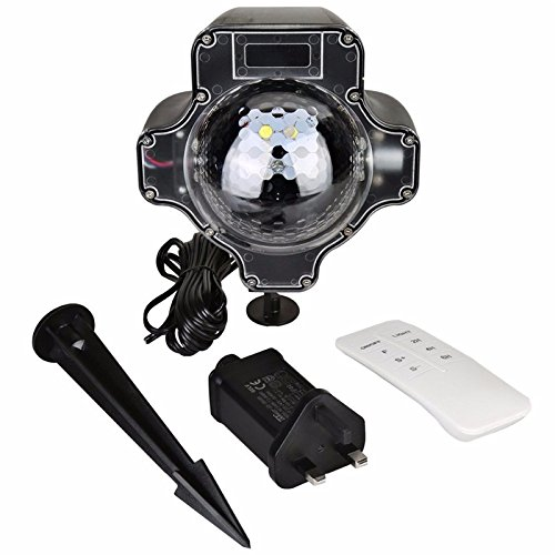 LightInTheBox Christmas Led Snowfall Projector Light Tofu Rotating Waterproof White Snowflake Fairy Landscape Projection Lights with Wireless Remote for Outdoor by LightInTheBox (Image #2)