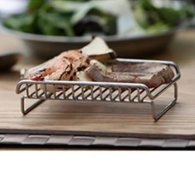 TY&WJ Mini Acier inoxydable Grill Maison jardin Bbq Barbecues Portable 1 Personne-A 13x10x4cm(5x4x2inch)