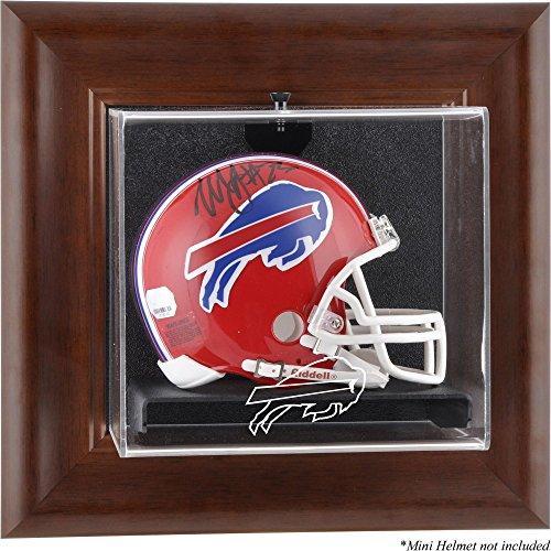 Display Football Buffalo Case (Mounted Memories Buffalo Bills Brown Mini Helmet Display Case)