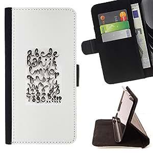"""For HTC Desire 626 626w 626d 626g 626G dual sim,S-type Caligrafía Diseño Abc Blanca"""" - Dibujo PU billetera de cuero Funda Case Caso de la piel de la bolsa protectora"""