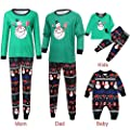Christmas Pajamas for Family Christmas Toddler Baby Long Sleeve Cartoon Deer Snowman Print Romper Jumpsuit