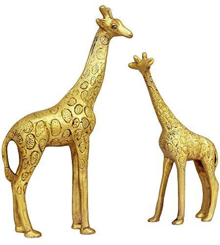 Brass Giraffe - TOS365 Show Pieces for Living Room Brass Giraffe Statue in Pair Showpiece Home Décor Decoration Gifts Items