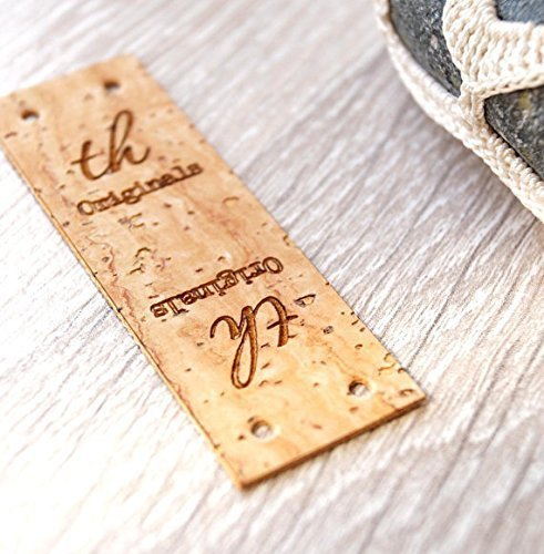 Amazon com: Center fold cork leather labels, personalized fold over