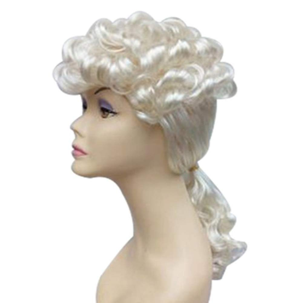 Adult Judge Wig Barrister Lawyer Court Fancy Dress Costume Cosplay Mens Ladies