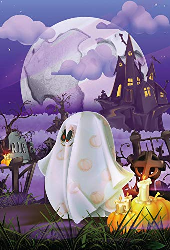 Yeele 6x9ft Halloween Background for Photography Ghost Monster Mystery Old Castle Rip Comic Photo Backdrop Children Kids Boys Adult Portrait Booth Shoots Studio Props Wallpaper