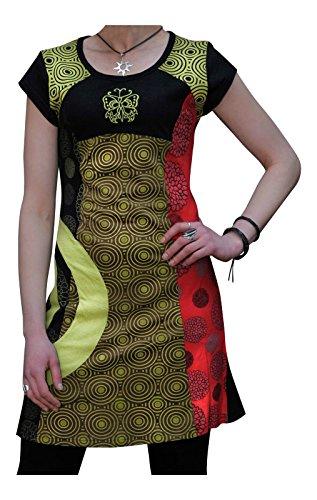 Fashion Hippy Algodón Vestido Bordado Shopoholic Mariposa Boho zpqwUw