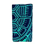 Nova Blue Turtle Beach Towel - design closeup