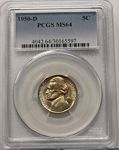 1950 D Jefferson Nickel MS64 PCGS Felix O. - Nickel Jefferson Mintage