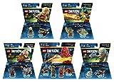 Ninjago Cole & Kai Team Pack + The Lord Of The Rings Legolas + Gimli + Gollum + The Legend Of Chima Cragger Fun Packs - LEGO Dimensions - Not Machine Specific