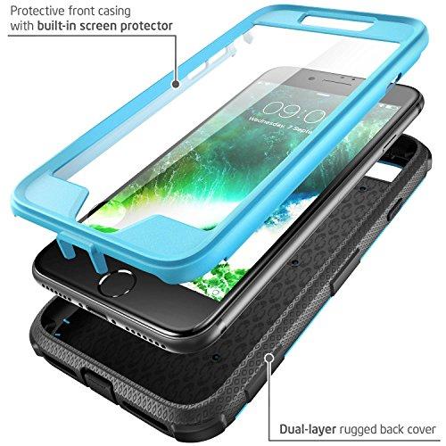 Custodia iPhone 7 i-Blason [Armorbox] - Protezione robusta con plastica rigida [ Shock Reduction ] e protezione dello schermo