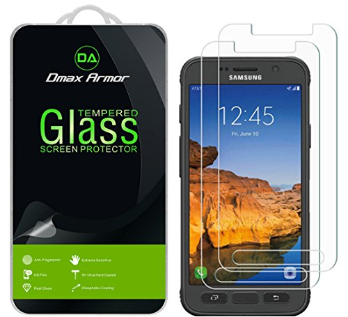 [2-Pack] Dmax Armor for Samsung Galaxy S7 Active Screen Protector, (Not Fit For Galaxy S7) [Tempered Glass] 0.3mm 9H Hardness, Anti-Scratch, Anti-Fingerprint, Bubble Free, Ultra-clear