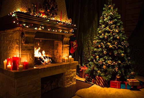 Price comparison product image Yeele 10x8ft Christmas Backdrop for Photography - Photo Background - Xmas Gifts Tree Fireplace Stocking Bear Lantern Chair Backdrop Party Banner Child Kid Adult Portrait Shooting Studio Props