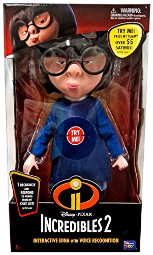 The Incredibles 2 Interactive Edna Action Figure with Voice Recognition