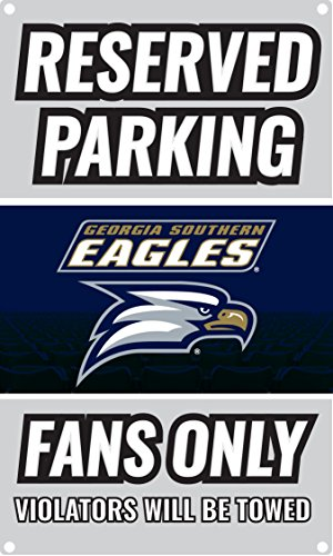 NCAA Parking For Fans Only Metal Sign (Georgia Southern Eagles) ()