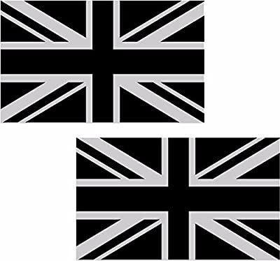 "MAGNET 2 - 5"" Britain Union Jack Subdued Flag Decal SET British Vinyl MAGNETIC Sticker great UK"